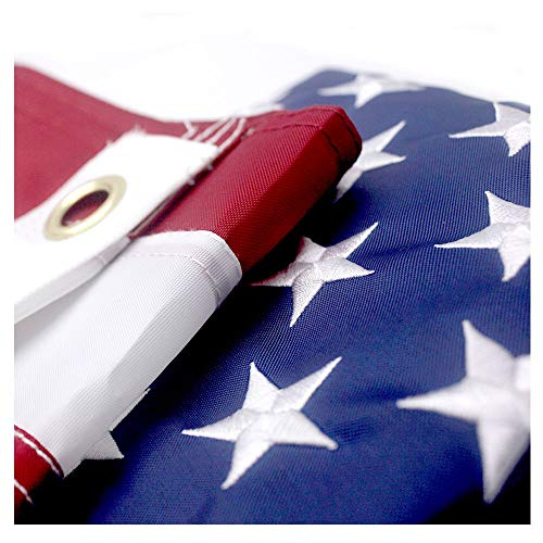 VSVO American Flag 2.5x4 ft with Durable Outdoor Flags- UV Protected, Embroidered Stars, Sewn Stripes, Brass Grommets Outside US Flags.