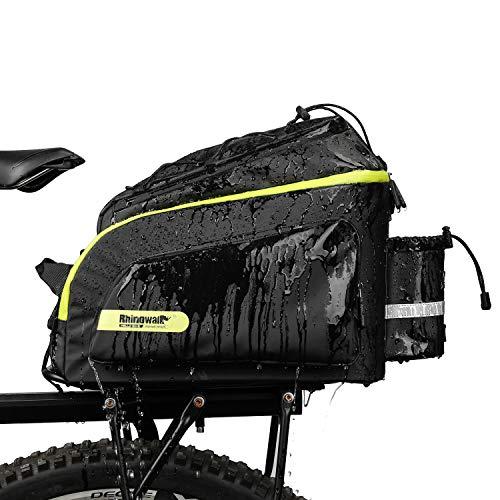 BAIGIO wasserdichte Fahrradtasche Rückentasche Gepäckträger Große multifunktionale Fahrradtaschen mit Regenschutz, 17L