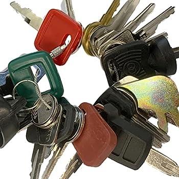 Heavy Equipment Key Set 24 Keys ON Ring FITS  Bobcat CASE Caterpillar Clark Fiat GEHL Genie GRADALL Ingersoll JCB MULTIQUIP SKYTRAK Toyota and More