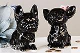 Tolle Spardose Mini Dog Chiwawa schwarz Hund Figur Sparschwein