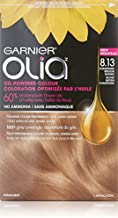 Garnier Olia Oil Powered Permanent Haircolor, 8.13 Champagne Blonde (Packaging May Vary)