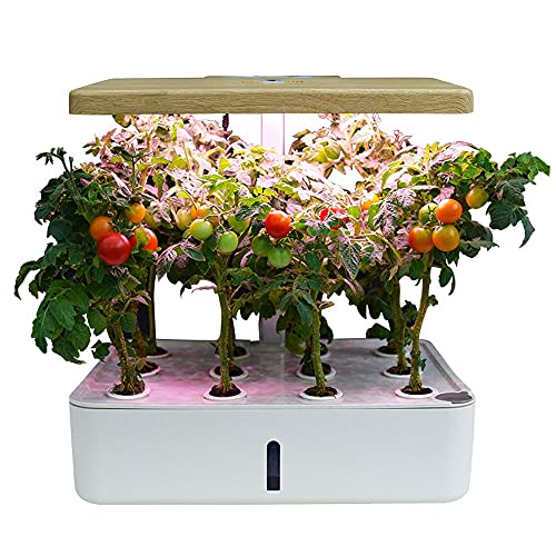 FUJGYLGL Smart Garden Home Indoor Fiberglass Vegetable Hydroponics Planters Box Artificial Plant Plastic Self Watering Flower Pot