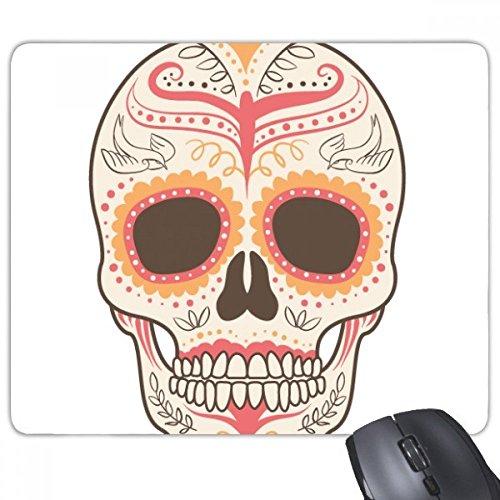 Bloem Vogel Cirrus Roze Schedel Mexico Nationale Cultuur Illustratie Rechthoek Antislip Rubber Mousepad Game Mouse Pad Gift