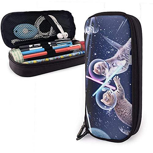 Cat in Space Bleistiftetui Pencase Pouchbeutel Schreibwaren Organizer Cosmetic Makeup Bag