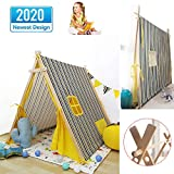 GUOYULIN 2020 New Family Safe Children Play Tents Kids Teepee Play Tent Indoor Outdoor Indian Tents Toddlers Boys Girls Playhouse with A Window,The Curtain Has A Strap Fixed,B