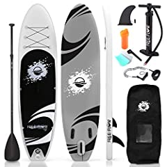 Upgraded wide SUP design for better balance: measuring 10'6 feet long & 32 inches wide, balancing & stabilizing on top of our SUP board is a breeze Soft, stable & anti slip top deck: perfect for beginners, We've upgraded this inflatable paddle board ...