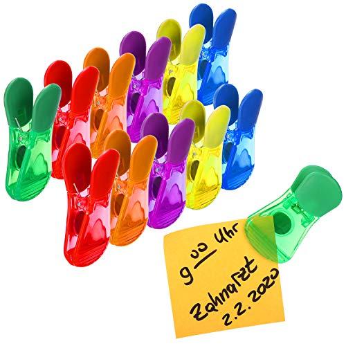 com-four 12x magneti per Frigorifero, magneti per promemoria, Note e Foto su Porte e lavagne del Frigorifero, magneti a Clip (12 Pezzi - magneti per Il frigo - Clip)
