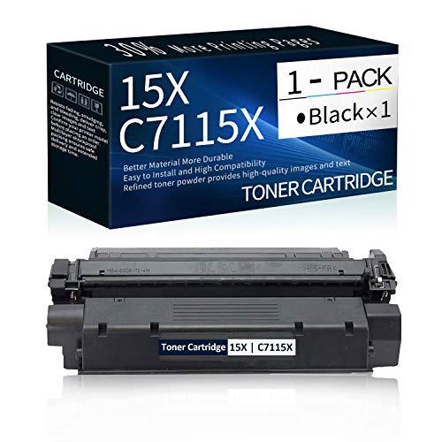 1 PK 15X   C7115X Black Toner Cartridge Replacement for HP Laserjet 1000 1150 1005W 1200n 1200se 1220 1220se ; Laserjet 3300 MFP 3320 MFP 3320n MFP 3380 MFP Printer Toner.