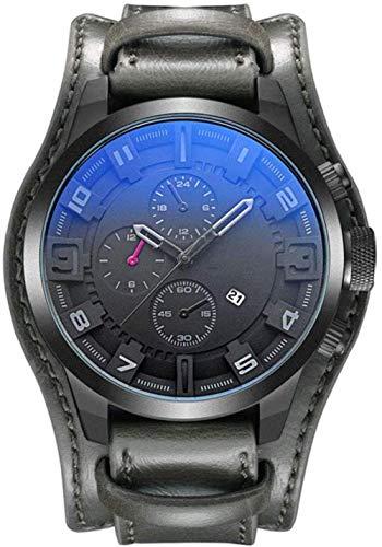 JDHFKS Herrenuhr, Analog Quarz Chronograph wasserdichte Armbanduhr mit Lederband, Mode Datum Armbanduhr, Business Casual Sport-Design-Uhren (Color : M1)