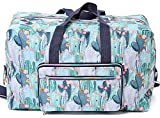 Foldable Large Travel Duffle Bag Waterproof Cute Overnight Carryon Weekender Bag for Women Girl(Cactus)
