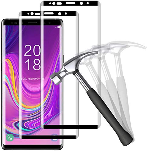 NUOCHENG 2 Unidades Protector de Pantalla para Samsung Galaxy Note 9 Cristal...