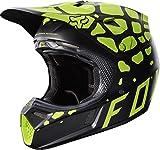 Fox Racing Grav Adult V3 Motocross Motorcycle Helmets - Black/Yellow/Large