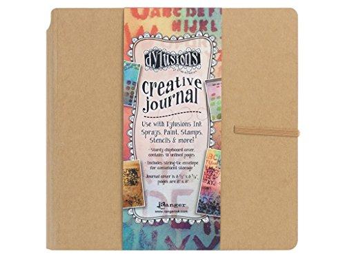 Ranger Dylusions Creative Journal, quadratisch, braun, Synthetic Material, 22.9 x 22.9 x 2.5 cm