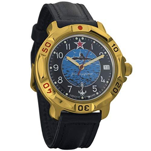 Vostok Komandirskie 2414 Reloj Militar Ruso mecánico de Cuerda Manual // 819163 (Classic)