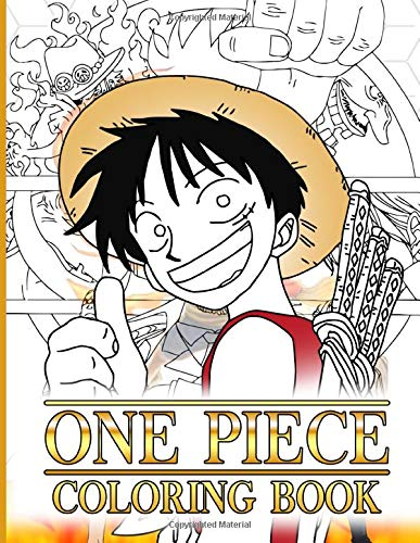 One Piece Coloring Book: One Piece Awesome Coloring Books For Adults With Exclusive Images