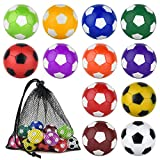 Coopay 12 Pieces 36mm Foosball Balls Table Football Soccer Replacement Balls Multicolor Official Tabletop Game Balls with a Black Drawstring Bag ( 12 Mixed Colors)