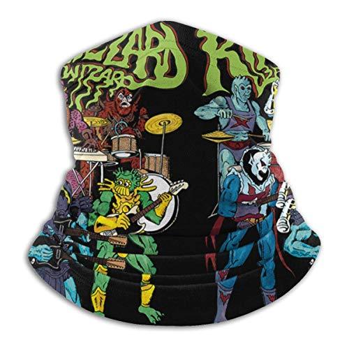 Unisex King Gizzard and Lizard Wizard Outdoor Face Mouth Bandana Face Mouth Cover Neck Gaiter Scarf Sports Pasamontañas Headwear Negro