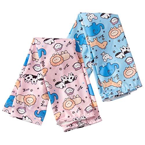 PRETYZOOM 2 Paar Cartoon Tier Muster Kühlhülsen Sonnenschutz Armschutz Abdeckung Arm Ärmel für Kinder Sommer Outdoor-Kleid