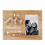 Vilight Engagement Wedding Gifts for Engaged Couples - Boyfriend Girlfriend Romantic Picture Frame - Let The Adventure Begin - 4x6 Photo