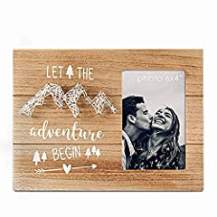 "💎 Top Engagement and Wedding Gift for Couples,also Romantic Anniversary Gift for Boyfriend and Girlfriend. 💛 Cool Congratulation Gift for Graduation, Moving, Retirement, New Job, Pregnant,Newborn Baby and so on with A Inspirational Word ""Let The Adve..."