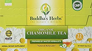Chamomile Tea Organic - (2 Pack) 22 Count Tea Bags - Digestive and Health Support - Organic Chamomile Tea - Relax Tea - He...