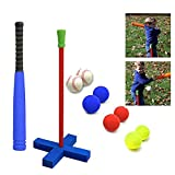 16.5 Inch Kids T-Ball Toy Set - Foam Baseball Toys Included 8 Different