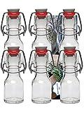 6botellas de cristal (con cierre, 50ml de planchado Botella Botellas rellenables Vitrea Recetas