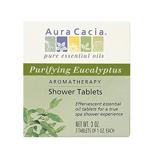 Aromatherapy Shower Tablets Purifying Eucalyptus by Aura Cacia 3 oz (PACK OF 8)