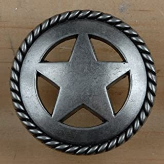 Set of 24 Rustic Rope Lone Star Drawer Pulls Cabinet Knobs Western Southwest Decor Texas (Old Silver)