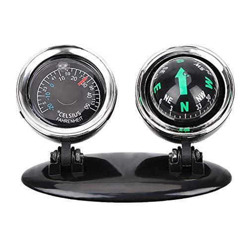 WYJW 2-in-1 boot en voertuigen kompas thermometer hygrometer auto interieur accessoires kogelgeleiding voor decoratie huis buiten C