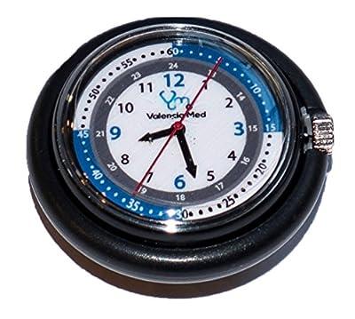 Valencia Med Stethoscope Watch, Black
