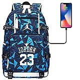 GXB No. 23 Jugador de Baloncesto Mochila Bulls Jordan Sports Rucksack Fan Bag Estilo H