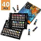 Magicfly Pinturas al Óleo 38 Colores 40 Tubos de 18 ml, Kit de Pinturas al Óleo para Niños Principiantes Artistas, 2 Colores Metalizados
