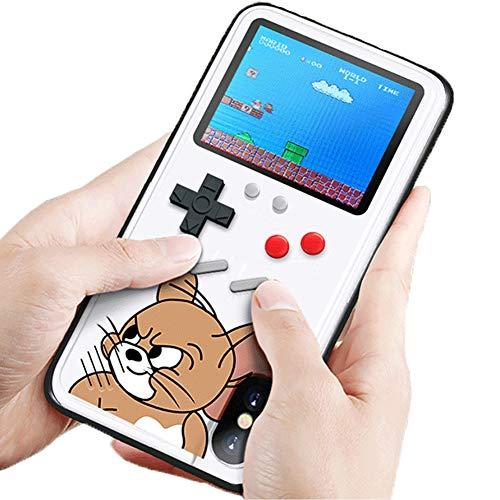 Fundas Gameboy iPhone 7 Plus Carcasa con Delgada TPU Caso de Silicona Bordes Protectora de Case Cover para Choques Retro 3D Tetris para iPhone 6 Plus/iPhone 7 Plus Plus 5.5',Blanco, Pantalla a Color
