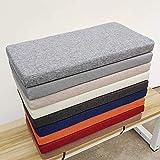 ZINN Cojín de banco grueso suave y largo, cojín de banco de cocina de 2 3 4 plazas, cojín de banco de madera para silla de columpio/muebles de exterior