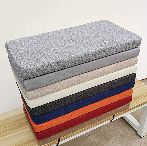ZINN Thick Bench Cushion Soft Long Seat Pad,2 3 4 Seater Kitchen Dining Bench Pad,Garden Wooden Bench Cushion for Swing Chair/Outdoor Furniture