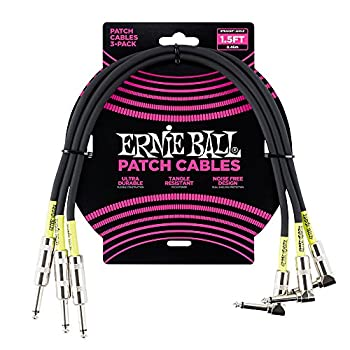 Ernie Ball Instrument Cable Black 1.5 ft