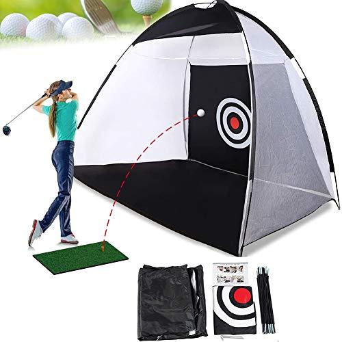 EUNEWR Red de golf para práctica de conducción pop-up de golf, plegable, ayuda para entrenamiento en interiores y exteriores, para jardín (200 cm)