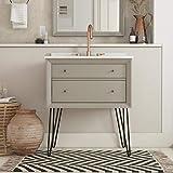 Dorel Living Tribecca 30 Inch, Gray Bathroom Vanity, 30'