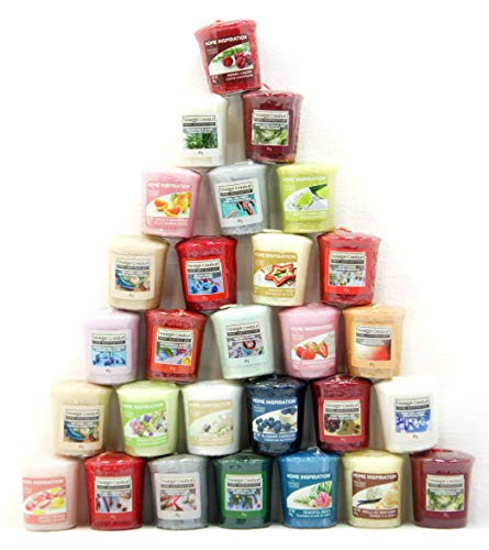 Yankee Candle 40 x Home Inspiration Official Votive Sampler Candles Rare Assorted Fragrances From The Entire Range