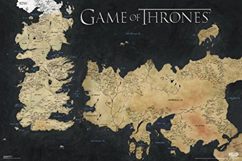 Pyramid Game of Thrones Map of Weste - Póster de pared