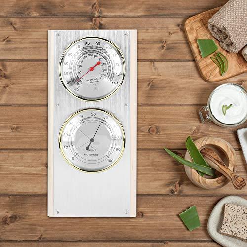 Temperatur Luftfeuchtigkeitsmesser, 2 in 1 Luftfeuchtigkeit Temperaturmesswerkzeuge Thermometer Hygrometer, verschleißfeste Werkstätten für Büros Saunazubehör Häuser