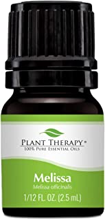 Plant Therapy Melissa Essential Oil 2.5 mL (1/12 oz) 100% Pure, Undiluted, Therapeutic Grade
