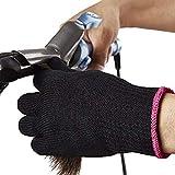 Terynbat Hitzebeständige Handschuh, Professionelle Hitzeschutz Handschuh für Haarglätter Lockenstab Glätteisen,Verwendbar Für Links Und Rechtshänderm,1 Stück
