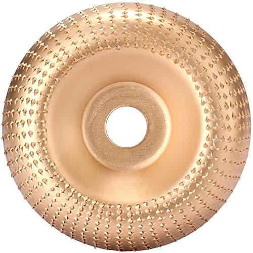 Intaglio Legno Mola Disco Angle Grinder Disco Abrasivo Lucidatura Modellatura Disco 16mm Utensile Rotante Disco Taglio per Modellare Lucidare Levigatura Intaglio Macinazione Piatto Ruota (D'oro)