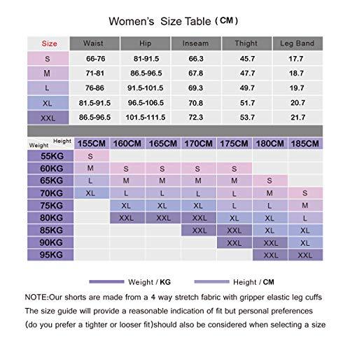 XGC Damen Lange Radlerhose Fahrradhose Radhose Radsportshorts für Frauen Elastische Atmungsaktive 4D Schwamm Sitzpolster mit Einer Hohen Dichte (Violet, L) - 7