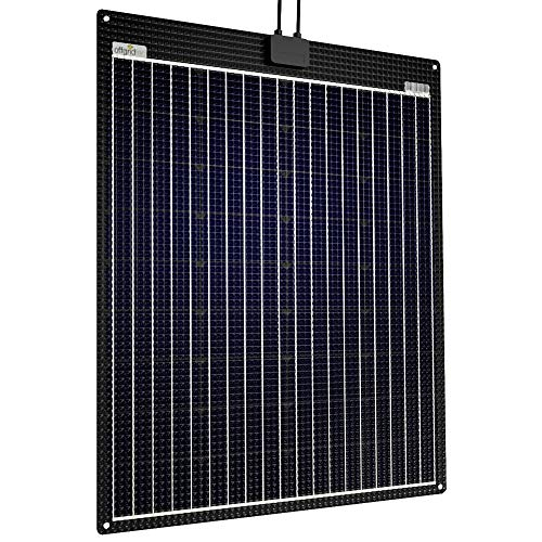 Offgridtec® ETFE-AL Panneau solaire semi-flexible 90W 12V avec plaque en aluminium intégrée