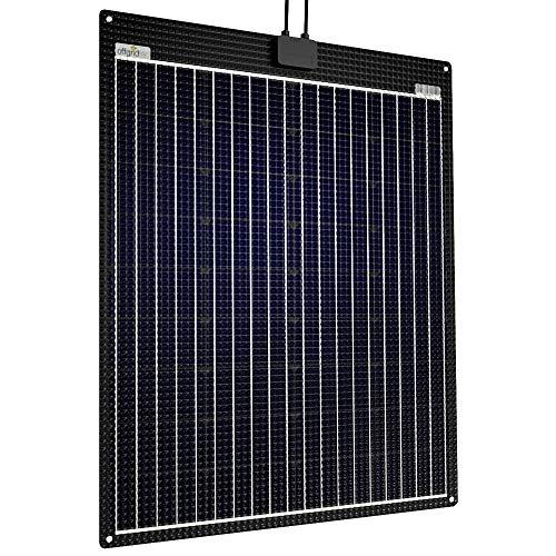 Offgridtec® ETFE-AL 90W 12V semiflexibles Solarmodul mit integrierter Aluminiumplatte