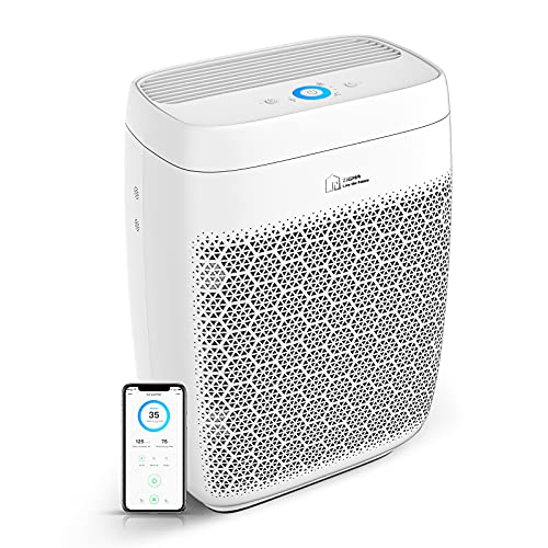 Air Purifier, Zigma Smart WiFi Air Purifier for Large Room up to 1580 ft2, Available for California, True HEPA 5-in-1 Air Purifiers w/Voice Control for Dust, Pollen, Smoke, Air Cleaner Aerio-300