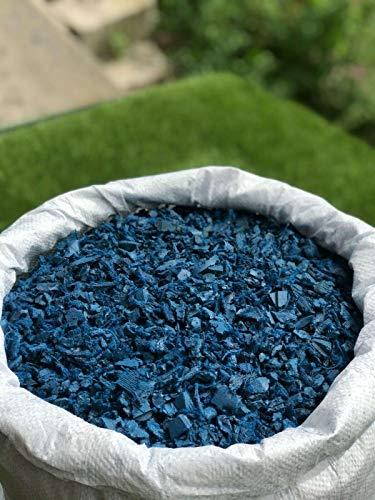 Doric Mulch aus Gummi, 20 kg Beutel (50 l), Blau